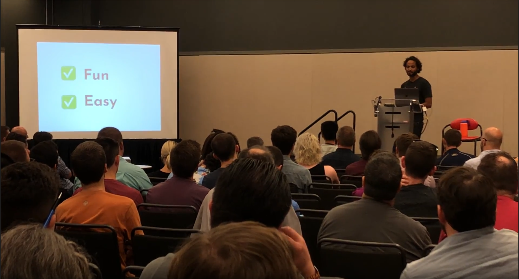 Ali speaking at Abstractions