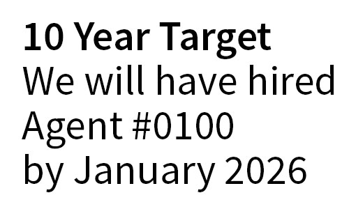 Test Double 10 year growth target