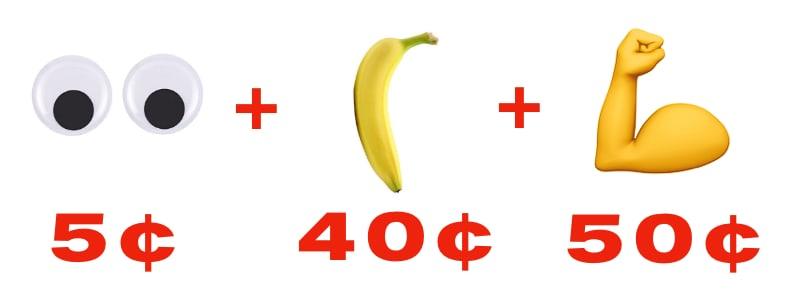 5¢ + 40¢ + 50¢